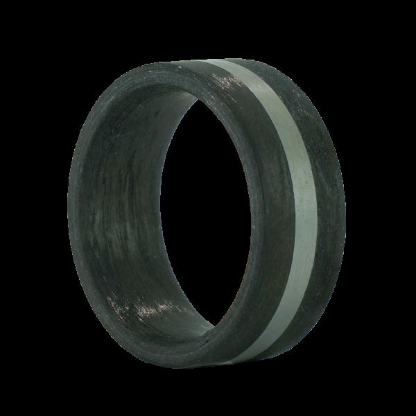 Carbon Ring mit Edelstahleinlage