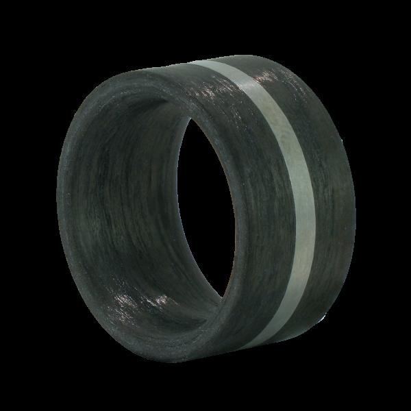 Carbon Ring mit Edelstahl Einlage